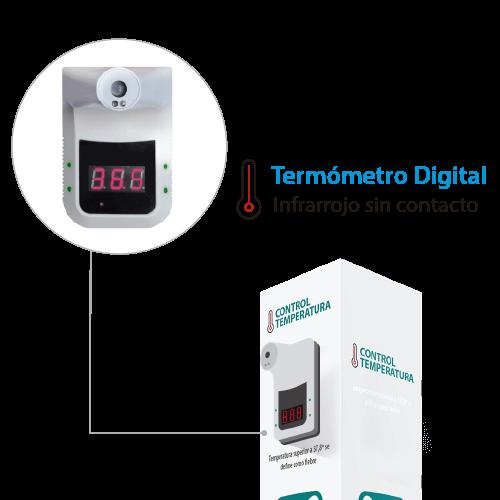Totem prevencion termometro COVID