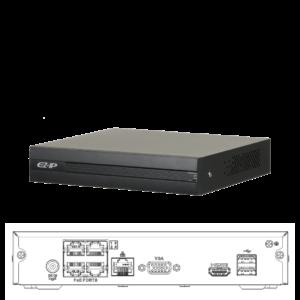 NVR1B04HC-4P/E-EZIP Grabador NVR 4 Canales IP