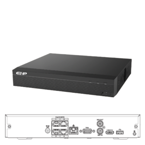 NVR1B04HS-4P Grabador NVR 4 Canales IP