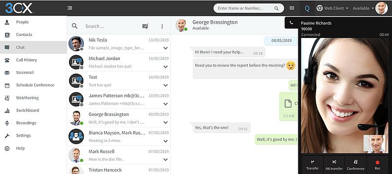 chat web - comunicaciones unificadas
