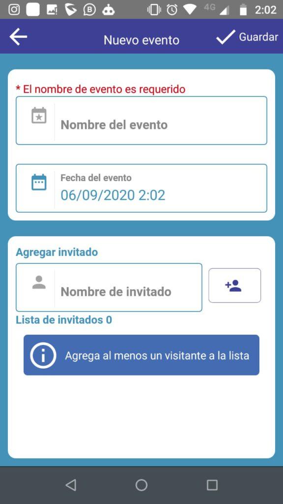 Autorización de Visitantes - Eventos